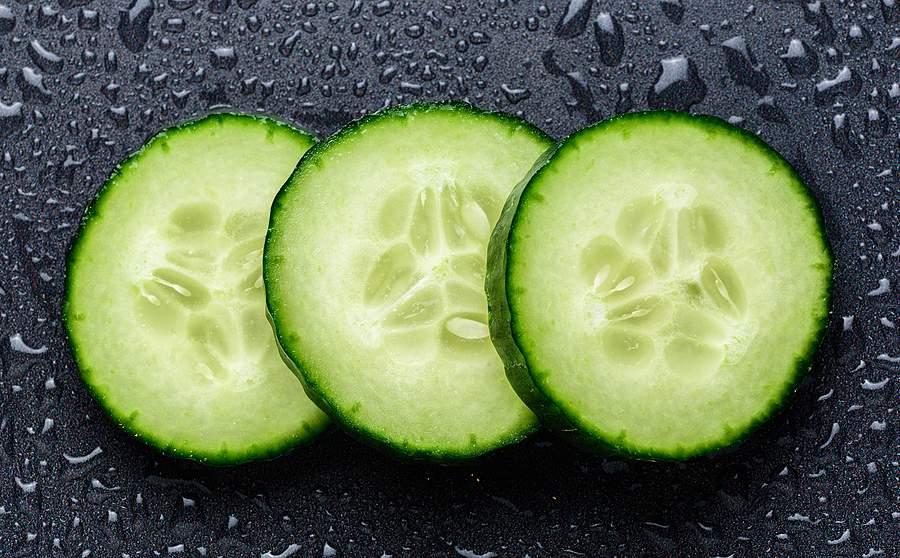 cucumber extract slices